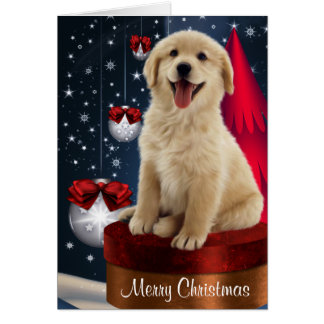Golden Labrador Retriever Christmas Cards
