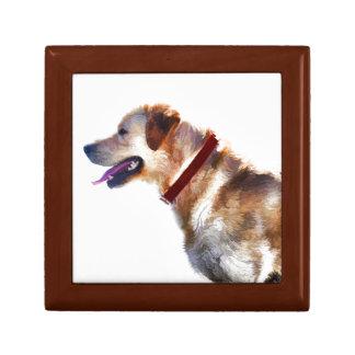 Golden Labrador Retriever Dog-lover Gift Small Square Gift Box