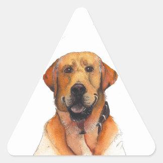 Golden Labrador Retriever Triangle Sticker