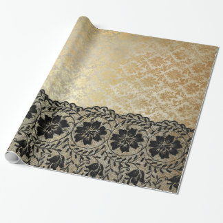Golden Lace Royal Wrapping Paper