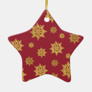 Golden Lace Snowflake Elegant Star Ornament