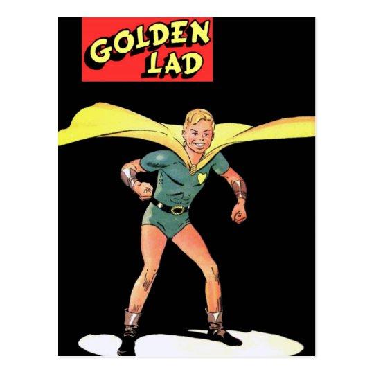 Golden Lad Postcard