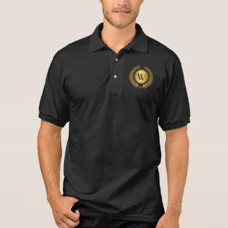 Golden Laurel Wreath Monogram Polo T-shirt