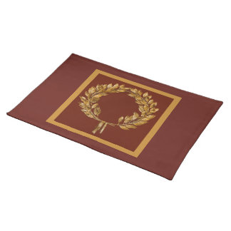 Golden Laurel Wreath Placemat