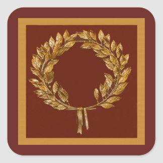Golden Laurel Wreath Stickers
