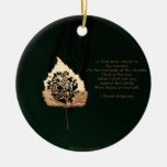 Golden Leaf Christmas Tree Ornaments