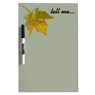 Golden Leaf Dry Erase Board