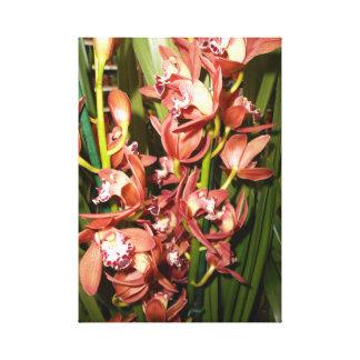 Golden Leaf - Edge Orchids Canvas Print