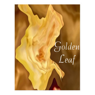 Golden Leaf -  Gold Color Therapy Art Postcard