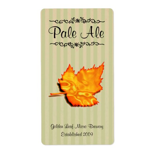 Golden Leaf Home brewed beer Labels