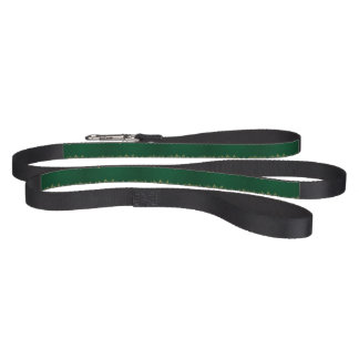 Golden leaf lace on green background pet leash