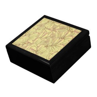 Golden Leaves Large Square Gift Box