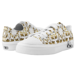 Golden leaves. printed shoes