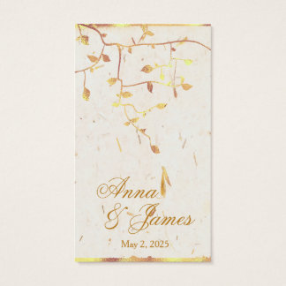 Golden Leaves Wedding Registry CardGolden L Business Card