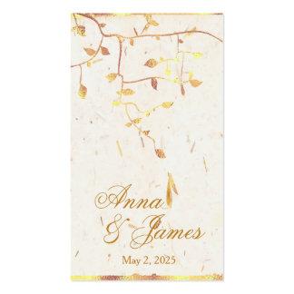 Golden Leaves Wedding Registry CardGolden L Pack Of Standard Business Cards