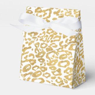 golden leopard skin favour box