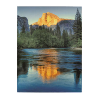 Golden Light on Half Dome Wood Wall Decor