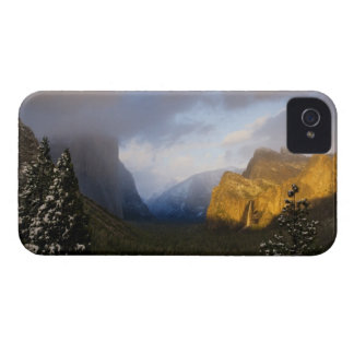 Golden light paints Yosemite Valley's Bridalveil iPhone 4 Covers