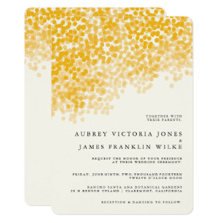 Golden Light Shower | Rustic Wedding Invitations