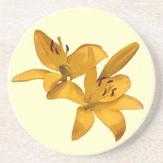 Golden Lilies Coaster