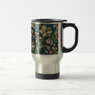 Golden Lilies Travel Mug