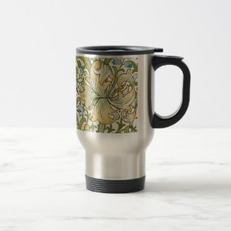 Golden Lily by William Morris Stainless Steel Travel Mug