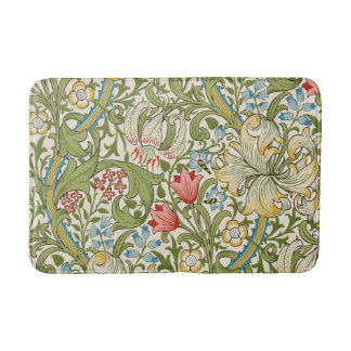Golden Lily Floral by William Morris Bath Mats