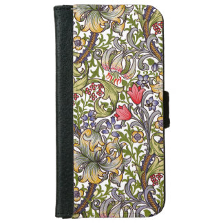 Golden Lily Minor Pattern William Morris iPhone 6 Wallet Case
