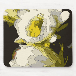 Golden Lily Pond Flower Painting Mouse Pad