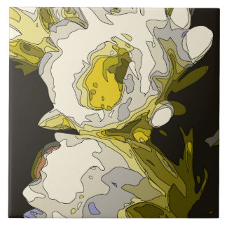 Golden Lily Pond Flower Painting Tiles