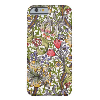 Golden Lily Vintage Floral Pattern William Morris Barely There iPhone 6 Case