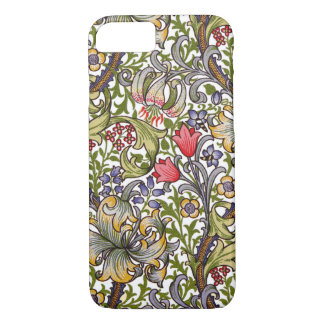 Golden Lily Vintage Floral Pattern William Morris iPhone 7 Case