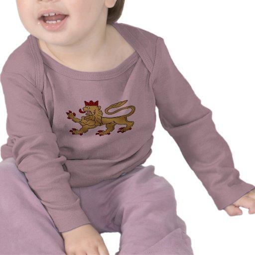 Golden Lion Crest - Lion Shield T Shirt