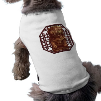 Golden Lion Dog Pixel Art Doggie Tshirt