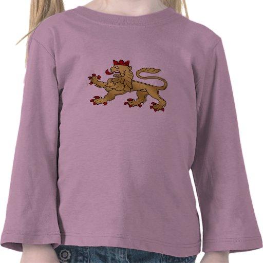 Golden Lion emblem - Lion Shield Tshirt