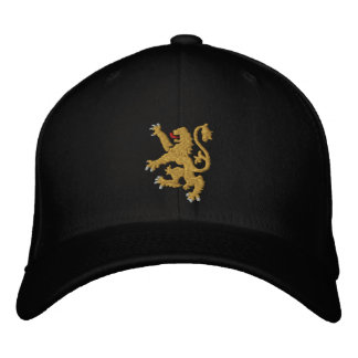 Golden lion Embroidered King of Kings Cap Embroidered Hats