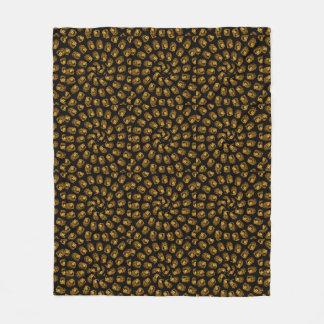 Golden Lion Head Abstract Pattern, Med Fleece Blanket