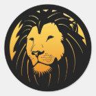 Golden Lion Head Logo Stickers