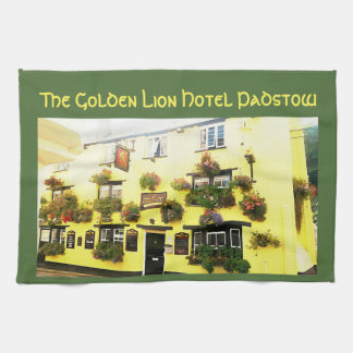 Golden Lion Hotel Padstow Cornwall England Tea Towel
