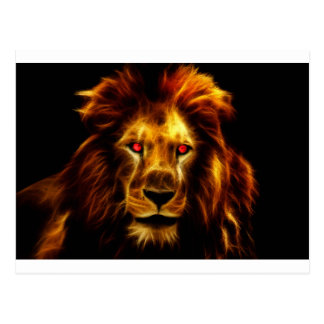 Golden Lion, Leo, King of the Jungle Postcard