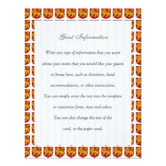 Golden Lion on Red Shield Heraldry Invitations