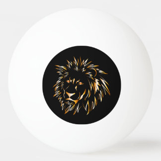 Golden lion ping pong ball