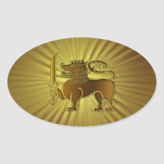Golden Lion Sri Lanka stickers
