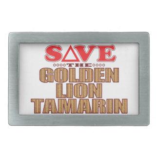 Golden Lion Tamarin Save Belt Buckle