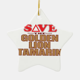 Golden Lion Tamarin Save Christmas Ornament