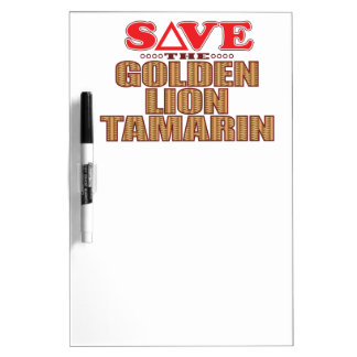 Golden Lion Tamarin Save Dry Erase Board