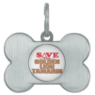 Golden Lion Tamarin Save Pet Name Tag