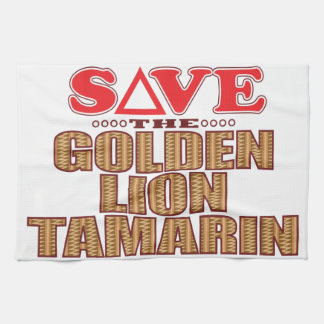 Golden Lion Tamarin Save Tea Towel