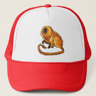 golden lion tamarin trucker hat