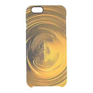 Golden liquid clear iPhone 6/6S case